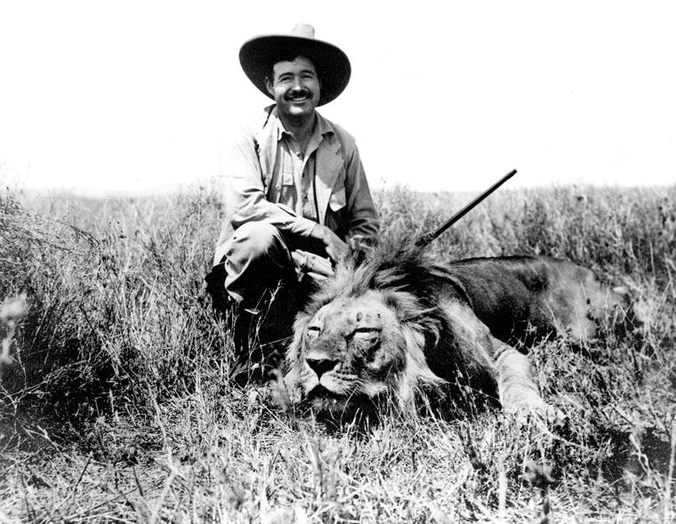 Ernest Hemingway na safari