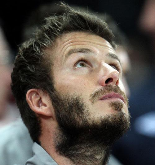Niezadbana broda Davida Beckhama
