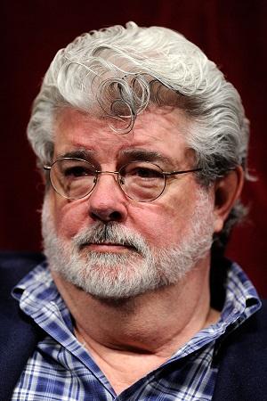 George Lucas ze źle wyznaczoną linią brody
