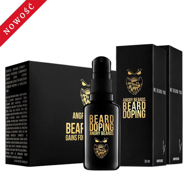 Zestaw na porost brody Angry Beards